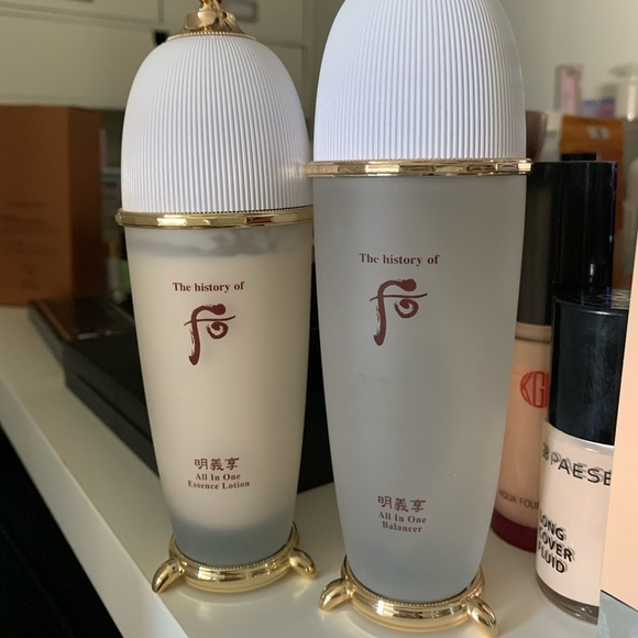The history of whoo all in one balancer and lotion